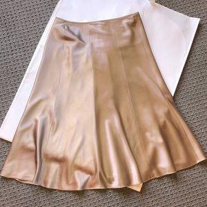 Silk skirt SZ 8 bronze color